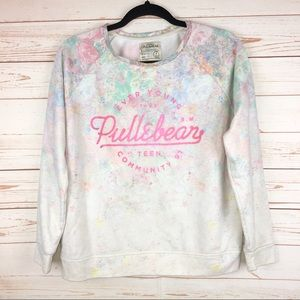 Ever Young Pull & Bear Floral Pastel Sweatshirt M